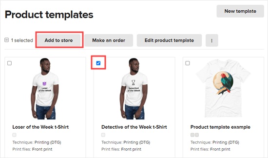 Select one of your print on demand products and click to add it to your WooCommerce store
