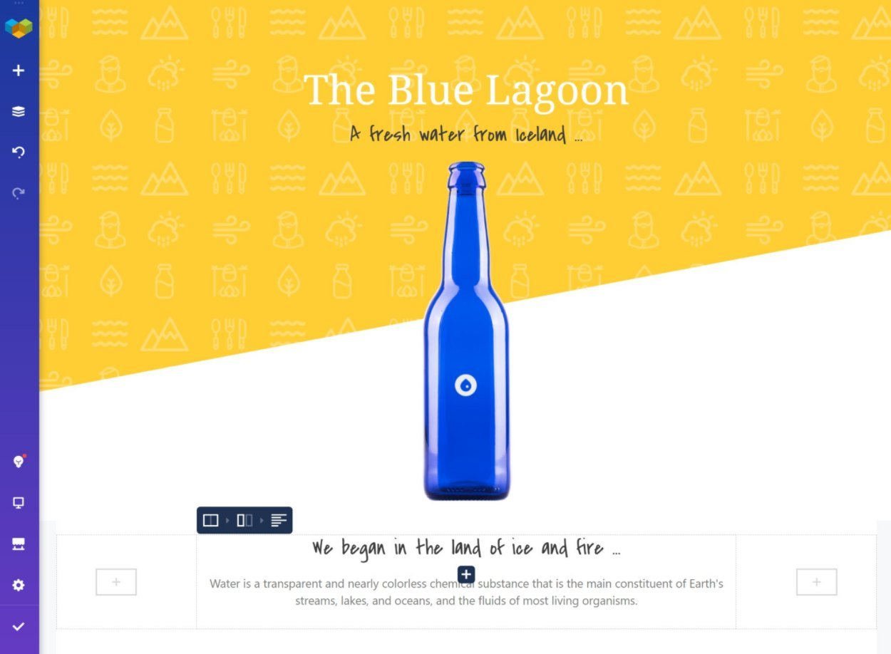 Visual Composer landing page template